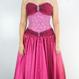 Pink sequined princess ball gown